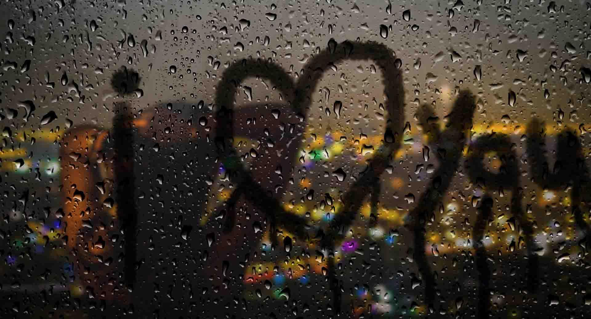 آموزش نوشتن متن روی شیشه بارانی
