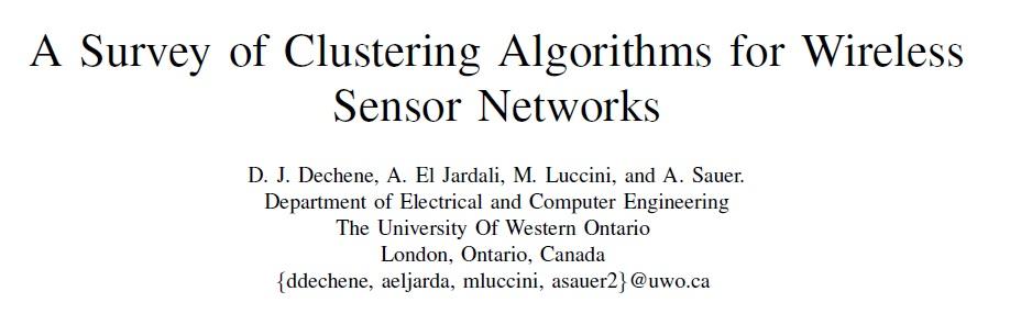 دانلود مقاله به همراه ترجمه-بررسی الگوریتم های خوشه ای شبکه های حسی بی سیم