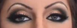 آموزش آرایش چشم و ابرو عروس آسیایی مدل 1