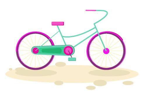 دوچرخه رنگارنگ - پروژه ایلوستراتور