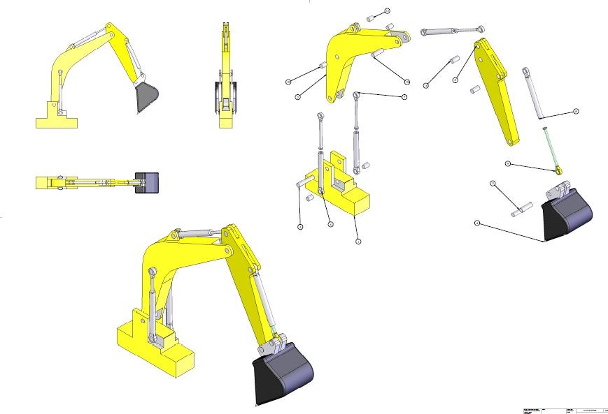 طراحی بیل مکانیکی در محیط نرم افزار سالید