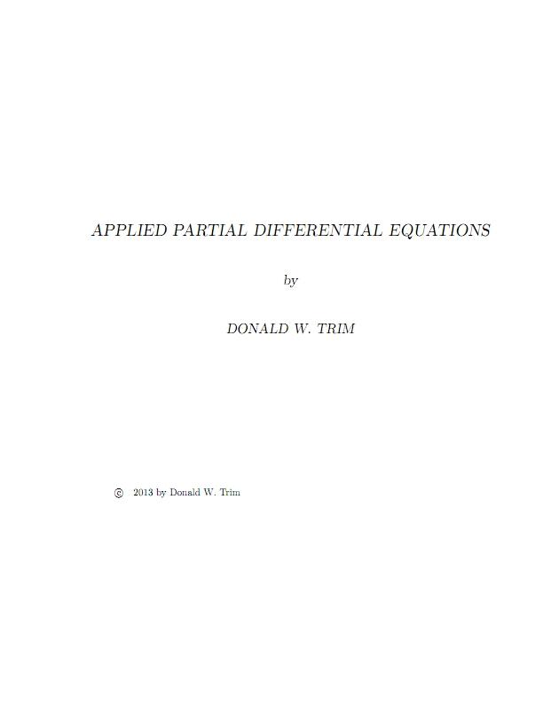 معادلات دیفرانسیل جزئی