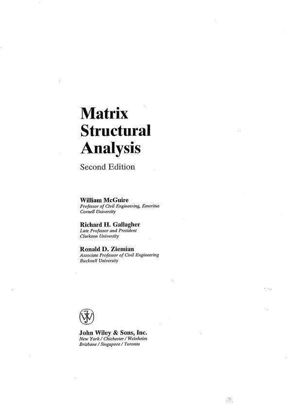 تجزیه و تحلیل ساختاری ماتریس
