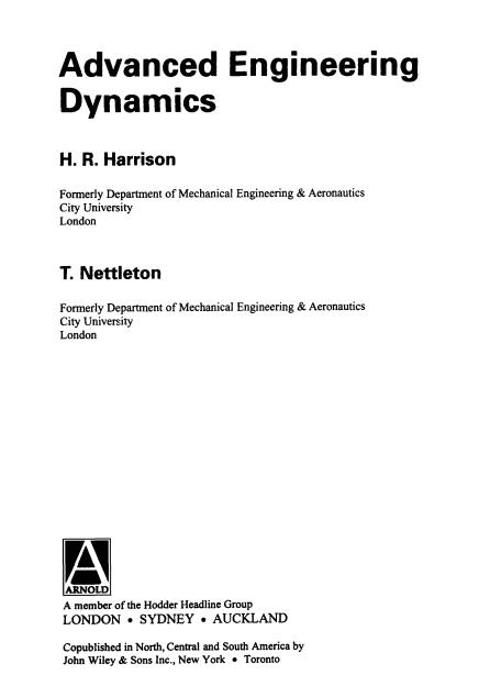 مهندسی دینامیک پیشرفته
