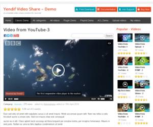 کامپوننت اشتراک ویدئو yendif video share
