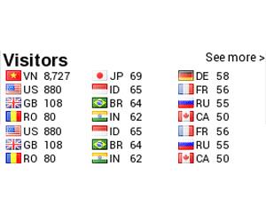 ماژول نمایش بازدید کنندگان هر کشور با پرچم