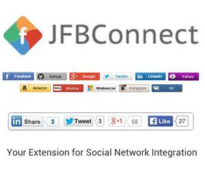 همه کاره شبکه های اجتماعی در جوملا JFBConnect