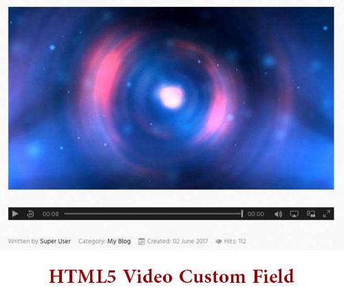 قرار دادن سریع ویدئو HTML5 Video Custom Field