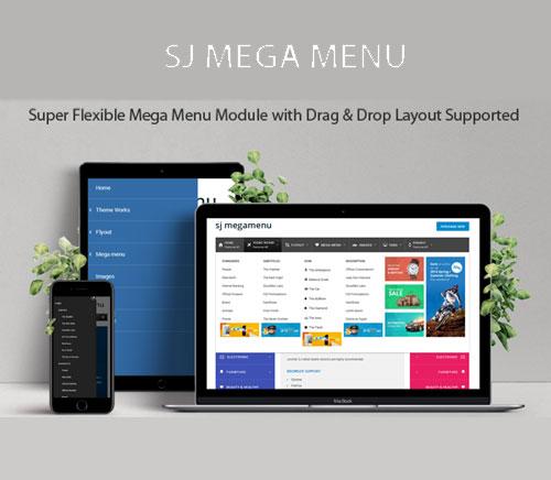 ساخت مگامنو در جوملا با SJ Mega Menu بهینه برای موبایل