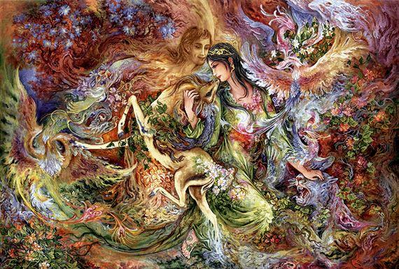 دانلود رایگان فایل نقشه ی تابلو فرش دستباف طرح مینیاتور دختر آهو (پرفروش)