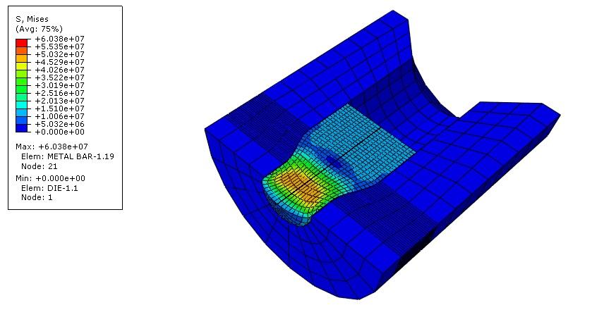 پروژه تحلیل المان محدود فرایند اکستروژن مستقیم در آباکوس