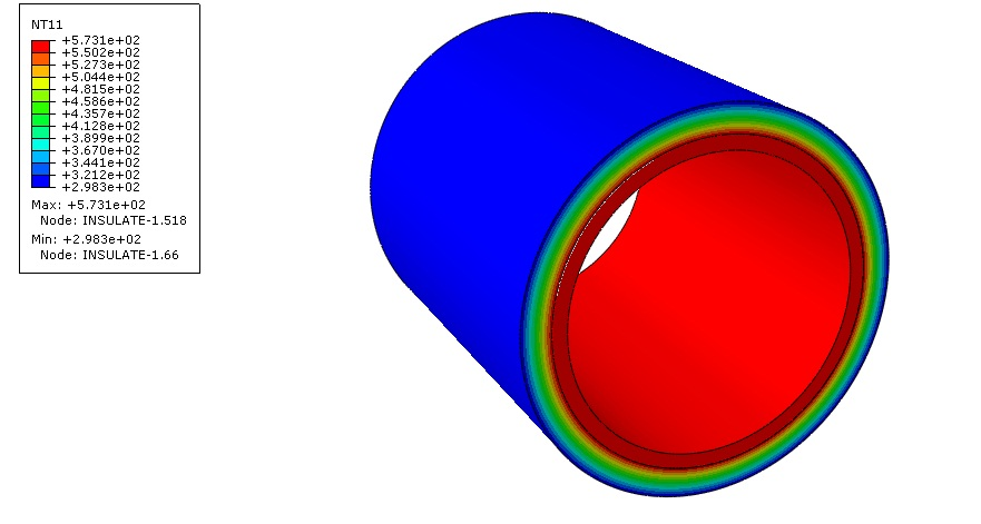 فیلم آموزشی آنالیز توزیع دما در یک لوله و عایق در آباکوس