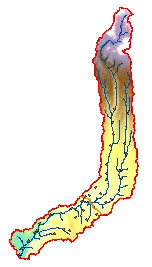 نقشه های GIS حوزه آبخیز رودخانه موردی (مردوق) چای مراغه