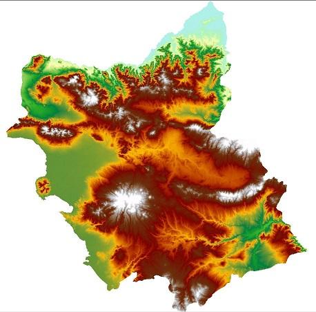 لایه مدل ارتفاع رقومی(DEM) آذربایجان شرقی