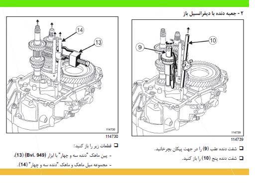 راهنمای تعمیر گیربکس معمولی L90