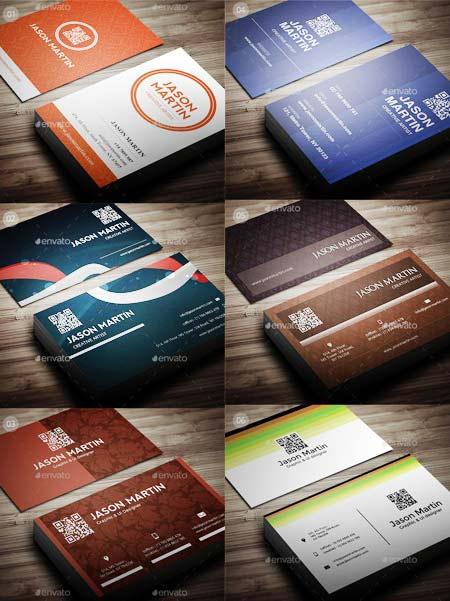 6 عدد طرح لایه باز کارت ویزیت