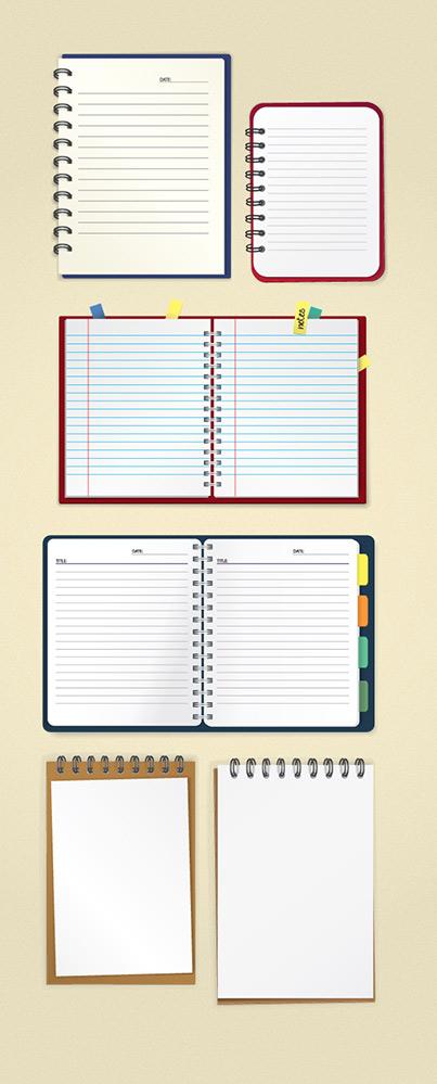 مجموعه دفتر یادداشت لایه باز