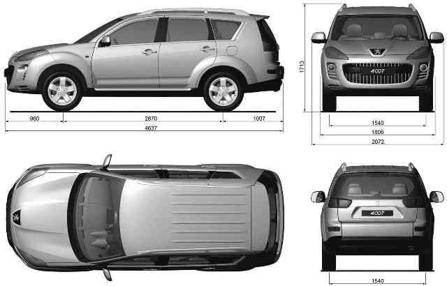 بلوپرینت و نقشه های آماده جهت طراحی و مدلسازی سه بعدی خودرو