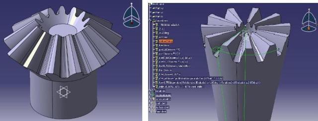 طراحی و مونتاژ چرخدنده مخروطی در نرم افزار CATIA