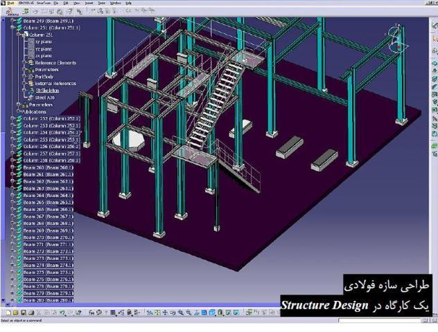 طراحی سازه و نحوه اضافه کردن مقطع دلخواه در CATIA Structure Design