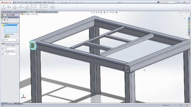 طراحی سازه در نرم افزار سالیدورکس (Structural Design in SolidWorks)