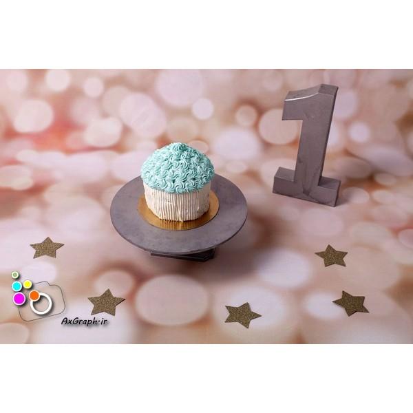 بک دراپ تولد تم ستاره-کد 528