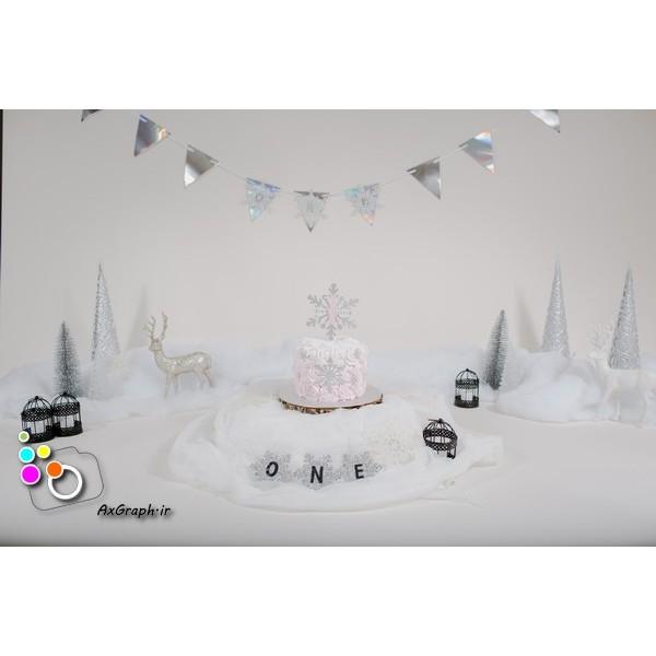 بک دراپ تولد تم کریسمس-کد 550