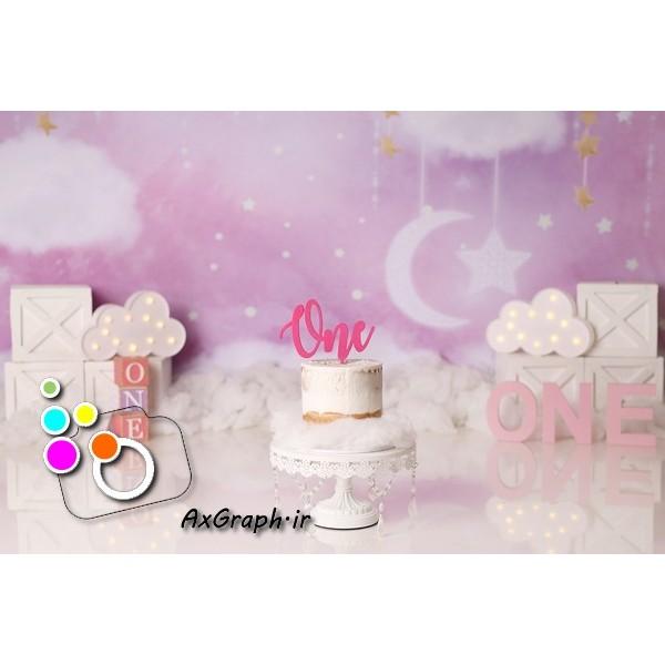 بک دراپ تولد تم رویایی-کد 1409