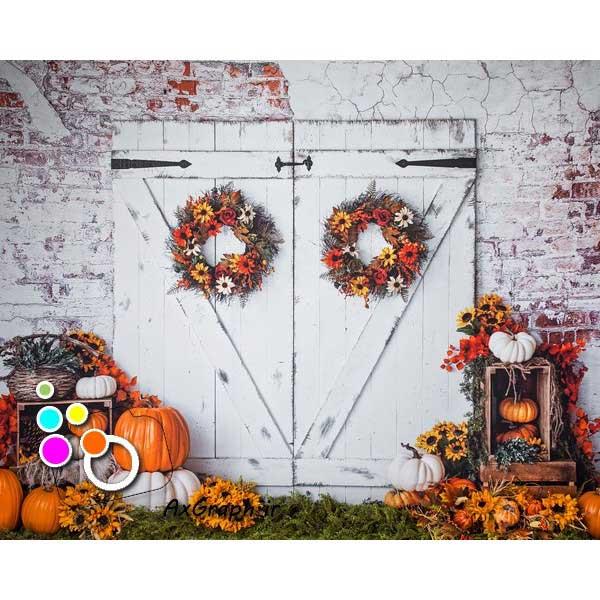 بک دراپ آتلیه تم هالووین-کد 1791