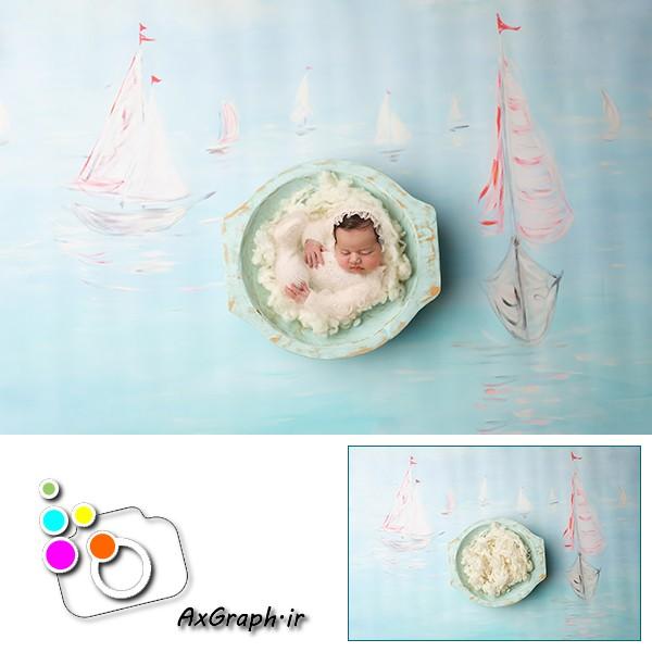 بک دراپ نوزاد دریای آرام -کد 1906