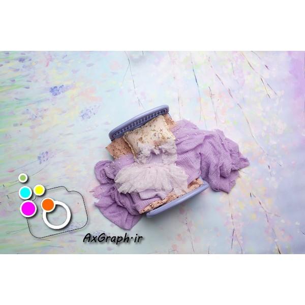 بک دراپ نوزاد تخت خواب یاسی-کد 1908