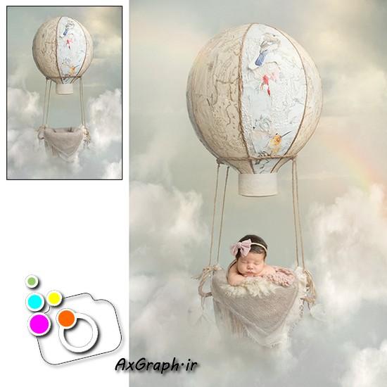 بک دراپ نوزاد بالون-کد 1913