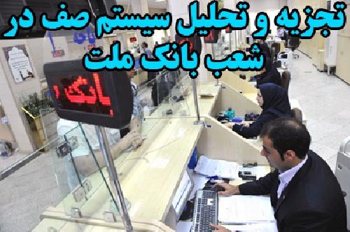 تجزیه و تحلیل سیستم صف موجود در یکی از شعب بانک ملت شهرستان دزفول