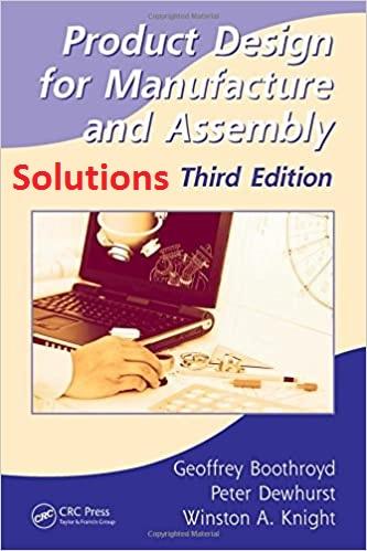 حل المسائل کتاب طراحی محصول به منظور ساخت و مونتاژ اثر  بوث روید Solutions Manual for Product Design for Manufacture and Assembly by Boothroyd