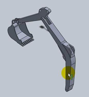 آموزش ساخت بیل مکانیکی با نرم افزار سالیدورکز