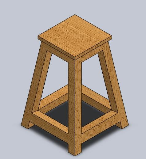 آموزش ساخت یک چهارپایه توسط نرم افزار سالیدورکز با ساده ترین روش