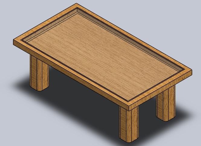 آموزش ساخت یک میز ناهارخوری ساده  با ساده ترین روش در سالیدورکز