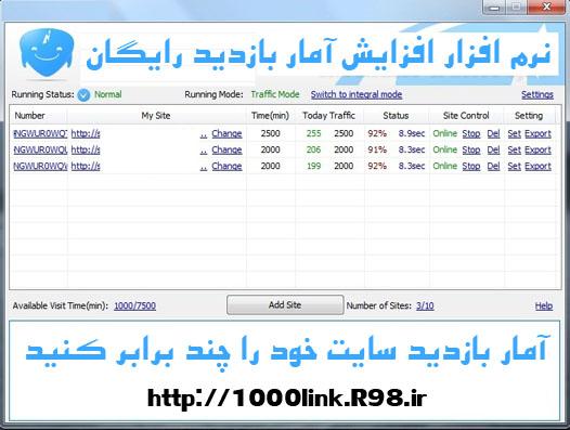 نرم افزار افزایش تعداد بازدیدکنندگان سایت(افزایش ترافیک)