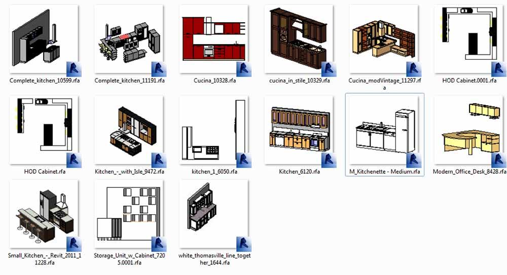 مدل کابینت یکپارچه آشپزخانه رویت
