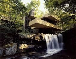 اتوکد خانه آبشار اثر فرانک لوید رایت
