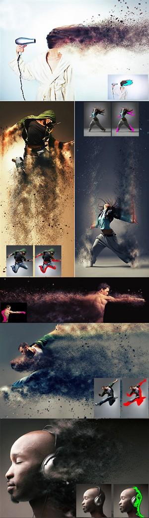 اکشن فتوشاپ ایجاد افکت طوفان شن و ماسه بر روی تصاویر
