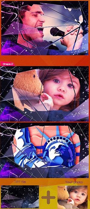 اکشن فتوشاپ ایجاد افکت شیشه شکسته بر روی تصاویر