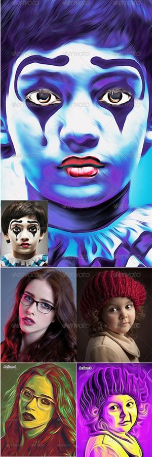 اکشن فتوشاپ تبدیل تصاویر به یک پوستر هنری زیبا