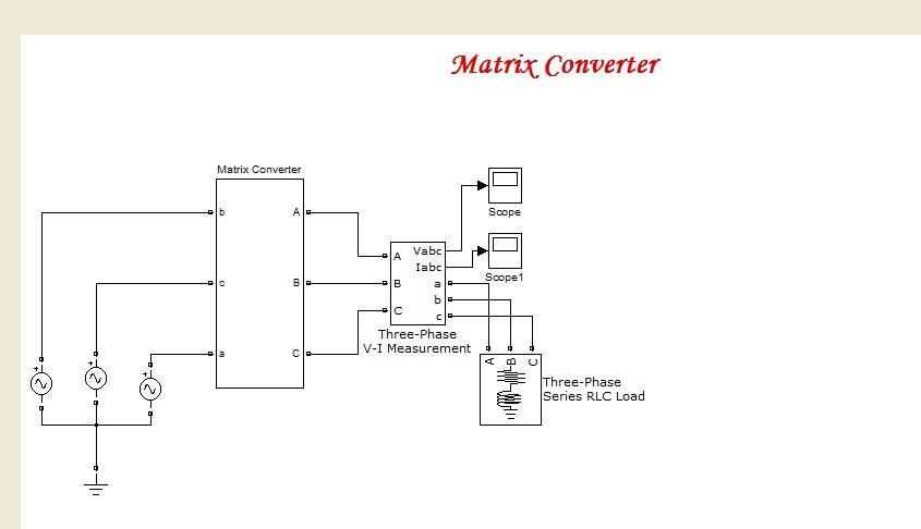 دانلود شبیه سازی مبدل ماتریسی در نرم افزار متلب