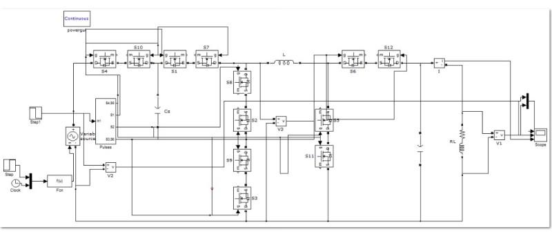 مدلسازی مبدل مستقیم سه سطحی آبشاری  AC / AC در نرم افزار متلب
