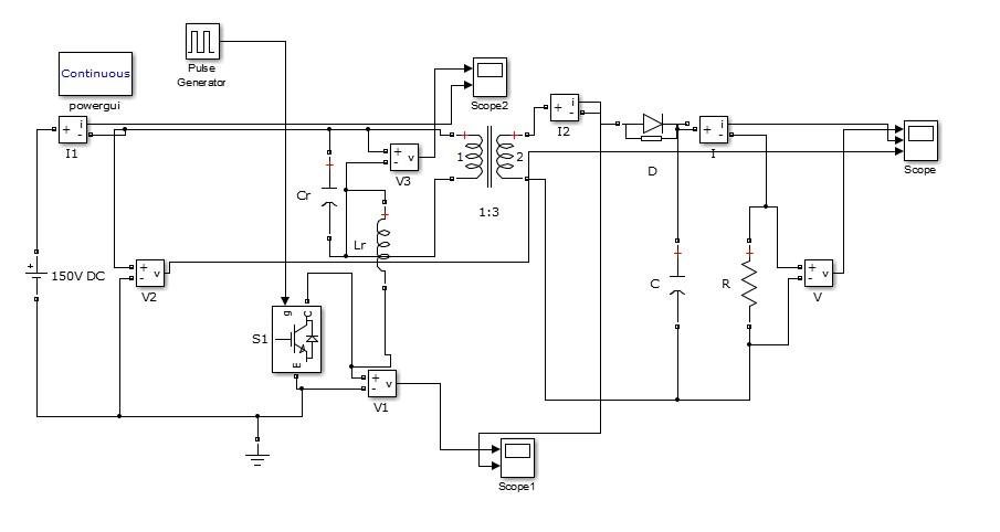 دانلود شبیه سازی سوئیچ زنی نرم مبدل DC/DC ایزوله شده در متلب