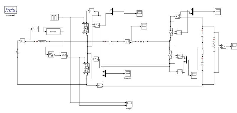 دانلود مبدل DC به DC غیرایزوله تحت شرایط جریان و ولتاژ صفر (ZVZCS)