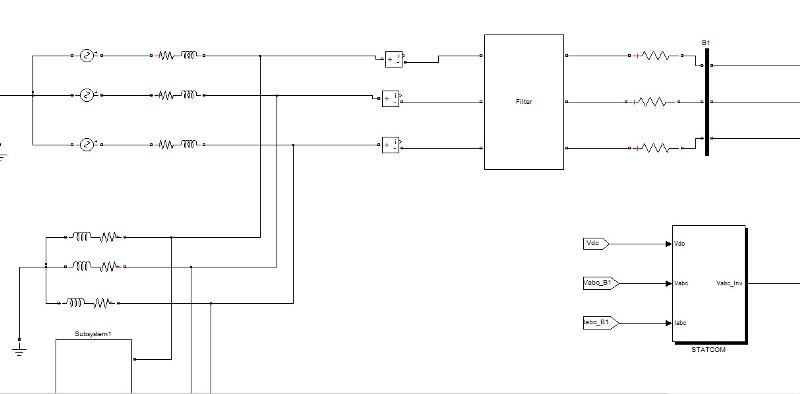 دانلود شبیه سازی استاتکام Statcom همراه با بار