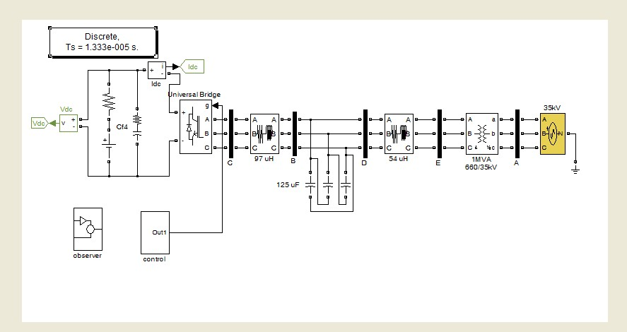 دانلود شبیه سازی کنترلر برای اتصال اینورتر به ریزشبکه در متلب