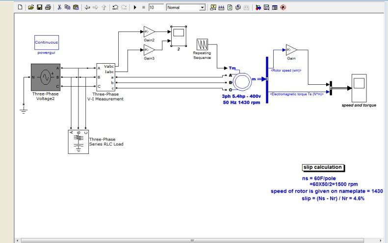 دانلود  شبیه سازی موتور سه فاز با تکرار توالی گشتاور در متلب